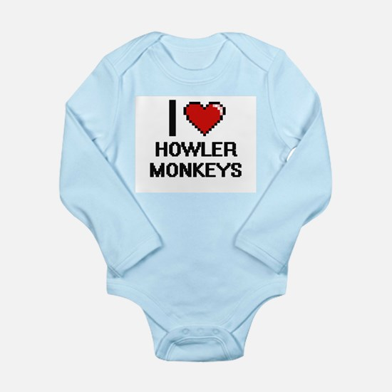 I love Howler Monkeys Digital Design Body Suit
