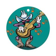 Cute Country musician Ornament (Round)