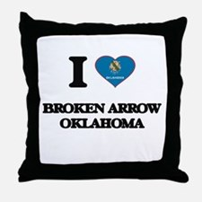I love Broken Arrow Oklahoma Throw Pillow