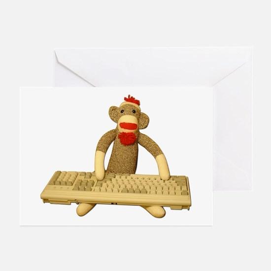 Code Sock Monkey Greeting Cards (Pk of 10)