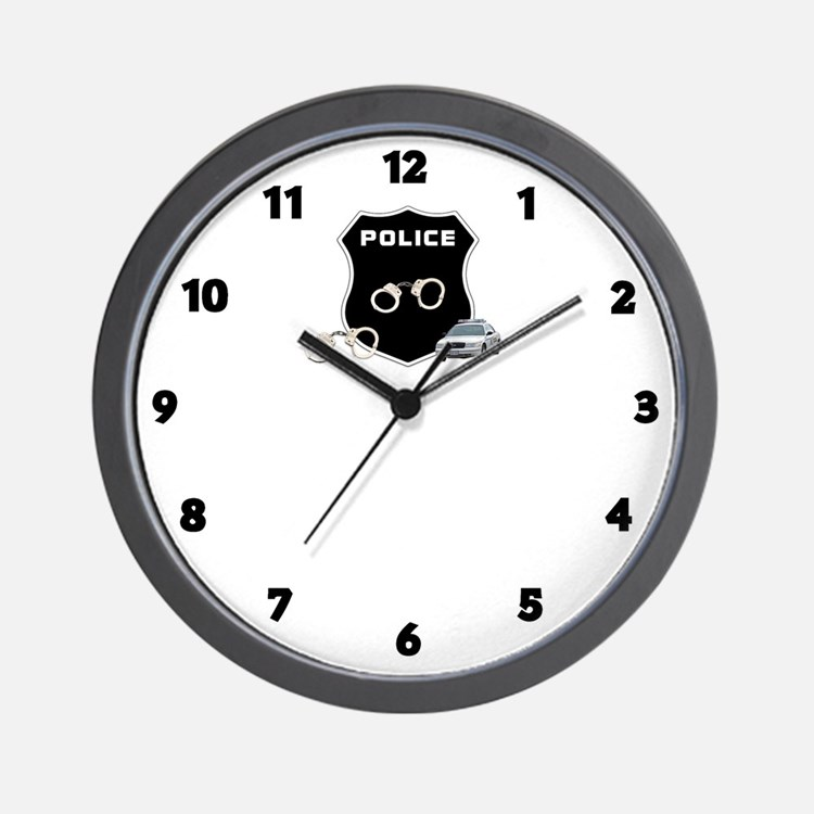 Police Crime Scene Wall Clock