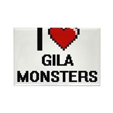 I love Gila Monsters Digital Design Magnets