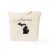 Personalize michigan Canvas Bags
