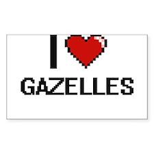 I love Gazelles Digital Design Decal
