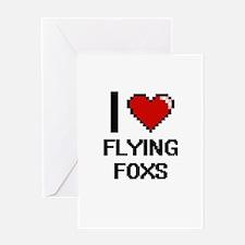 I love Flying Foxs Digital Design Greeting Cards