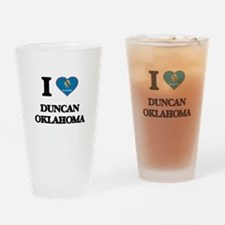 I love Duncan Oklahoma Drinking Glass