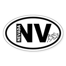 Nevada Mustangs Oval Decal