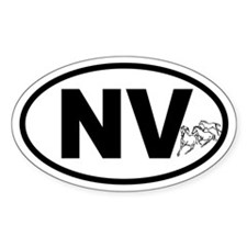 Nevada Mustang Oval Decal