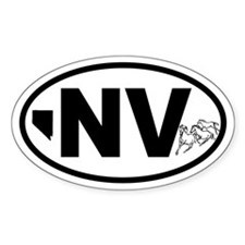 Nevada Mustangs and Map Oval Decal