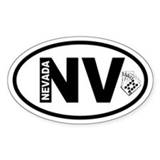 Nevada Poker Oval Decal