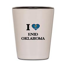 I love Enid Oklahoma Shot Glass