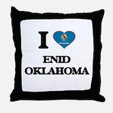 I love Enid Oklahoma Throw Pillow