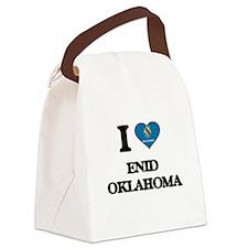 I love Enid Oklahoma Canvas Lunch Bag