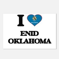 I love Enid Oklahoma Postcards (Package of 8)
