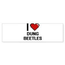 I love Dung Beetles Digital Design Bumper Bumper Sticker