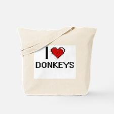 I love Donkeys Digital Design Tote Bag