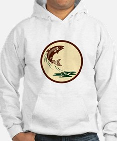 Atlantic Salmon Fish Jumping Water Retro Hoodie