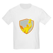 Plasterer Masonry Trowel Raise Up Retro T-Shirt