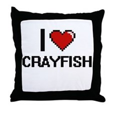 I love Crayfish Digital Design Throw Pillow