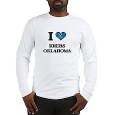 I love Krebs Oklahoma Long Sleeve T-Shirt