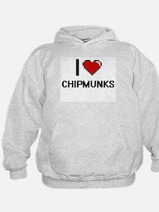 I love Chipmunks Digital Design Hoodie