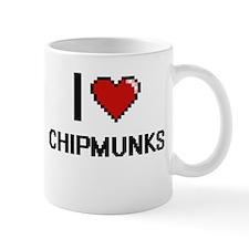 I love Chipmunks Digital Design Mugs