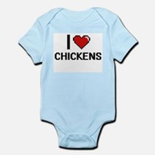 I love Chickens Digital Design Body Suit