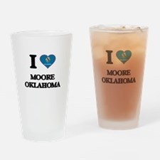 I love Moore Oklahoma Drinking Glass