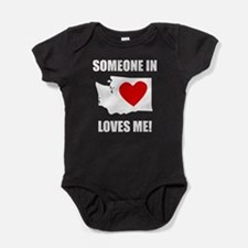 Someone In Washington Loves Me Baby Bodysuit