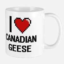 I love Canadian Geese Digital Design Mug