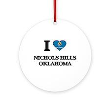 I love Nichols Hills Oklahoma Ornament (Round)
