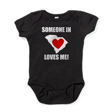 Someone In South Carolina Loves Me Baby Bodysuit