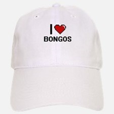 I love Bongos Digital Design Baseball Baseball Cap
