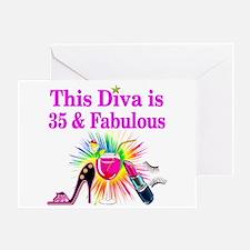 35TH PRIMA DONNA Greeting Card