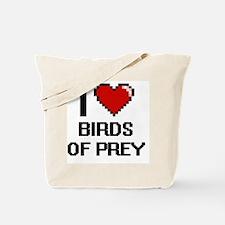 I love Birds Of Prey Digital Design Tote Bag