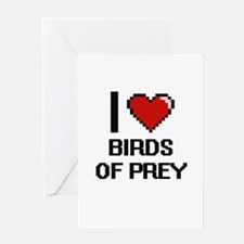 I love Birds Of Prey Digital Design Greeting Cards