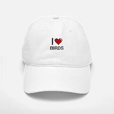 I love Birds Digital Design Baseball Baseball Cap