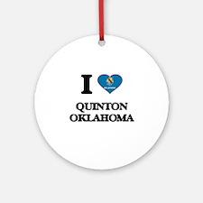 I love Quinton Oklahoma Ornament (Round)