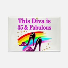 35TH PRIMA DONNA Rectangle Magnet