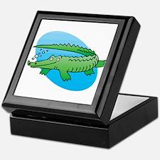 Cute Swimming Crocodile/Alligator Keepsake Box