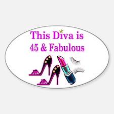 45TH PRIMA DONNA Sticker (Oval)