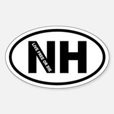 New Hampshire Live Free or Die Oval Decal