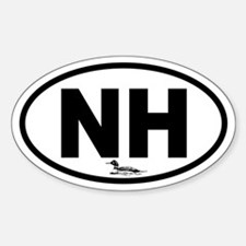 New Hampshire Loon Oval Decal