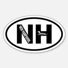 New Hampshire Inset Loon Oval Decal