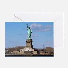 Funny Statue of liberty statue Greeting Card