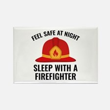 Sleep With A Firefighter Rectangle Magnet