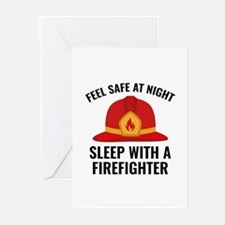 Sleep With A Firefighter Greeting Cards (Pk of 20)