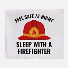 Sleep With A Firefighter Stadium Blanket
