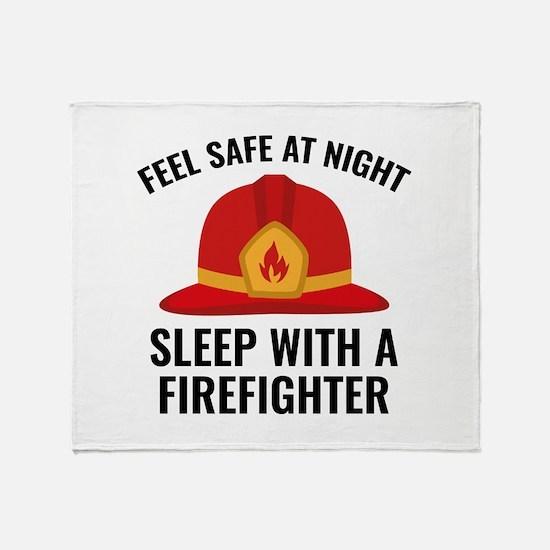 Sleep With A Firefighter Stadium Blanket