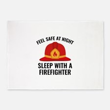 Sleep With A Firefighter 5'x7'Area Rug